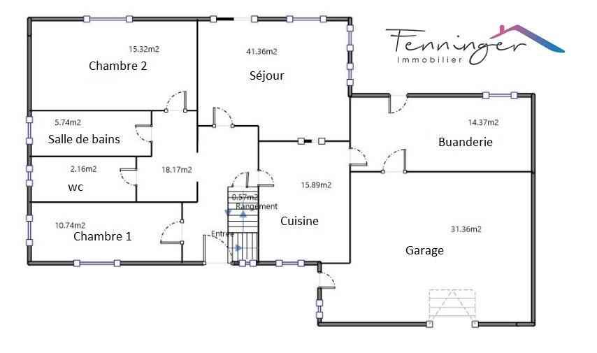 Haguenau maison de 160m2 sur 7 ares. Vidéo disponible