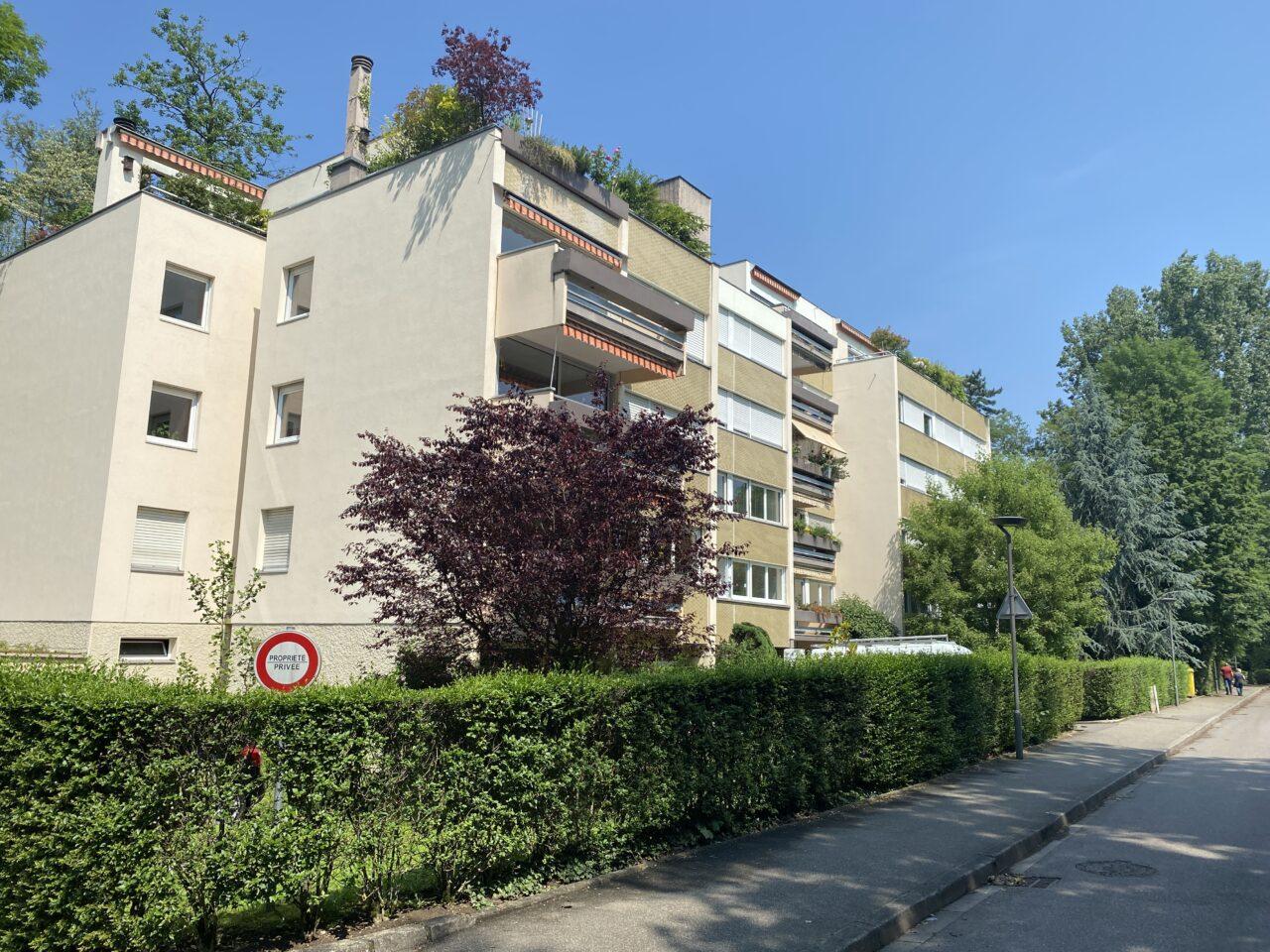 Illkirch 2 pièces de 47m2, terrasse, cave.