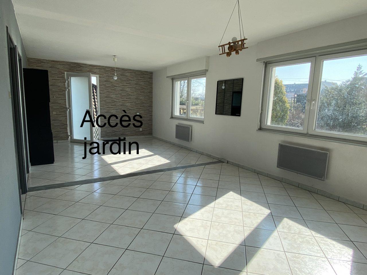 Kaltenhouse grand appartement dans bi-famille avec jardin. Vidéo disponible