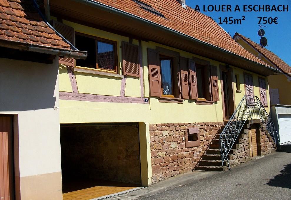 Maisons à louer à Eschbach et Gingsheim, F2 et F4 à Haguenau