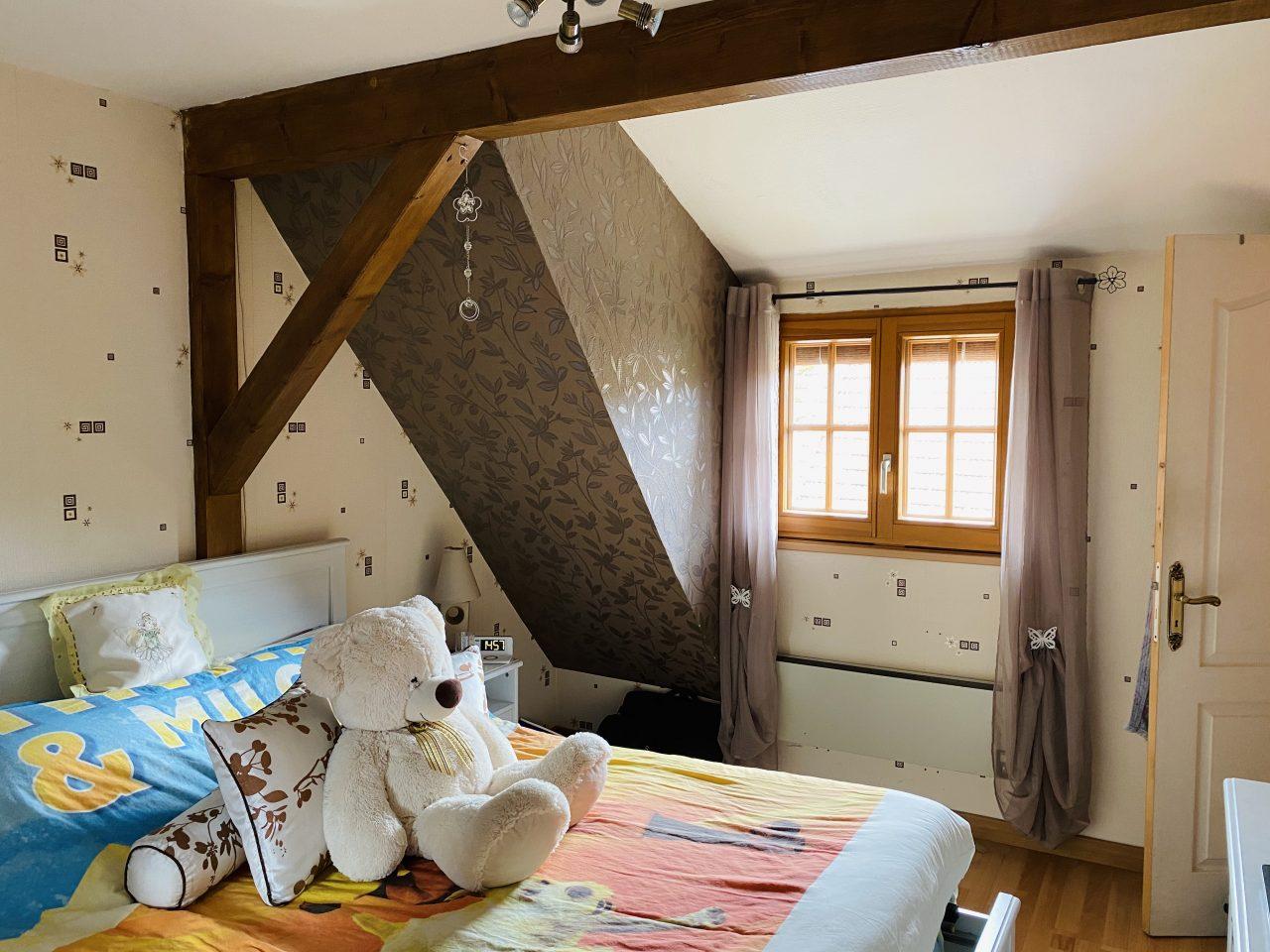 A Goersdorf, charmante maison alsacienne 100m2, 2 chambres, sur 1,85 ares