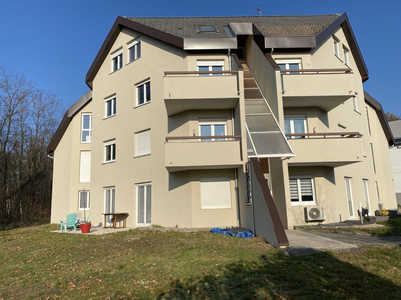 Marienthal, très beau F4 de 87m2, balcon, 2 garages